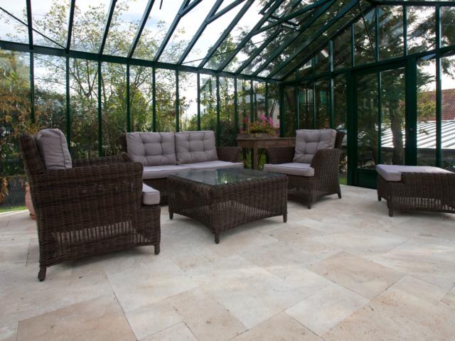 Terrassenplatten Cremo Medium Fine Line