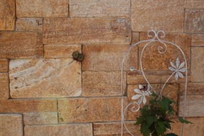 Travertin Ordon Gold Fine Line Systemmauer