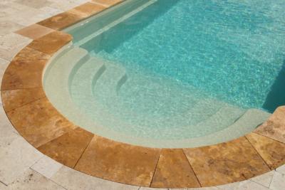 Terrassenplatten Travertin Cremo Medium Fine Line Ordon Gold Fine Line