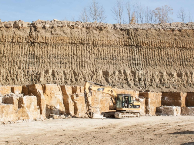 Muschelkalk Steinbruch - Quader Mauersteine