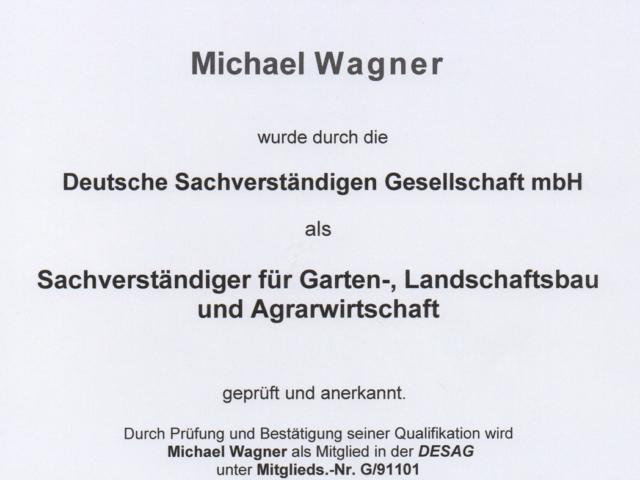 Sachverstaendiger - Garten und Landschaftsbau und Agrarwirtschaft M.Wagner