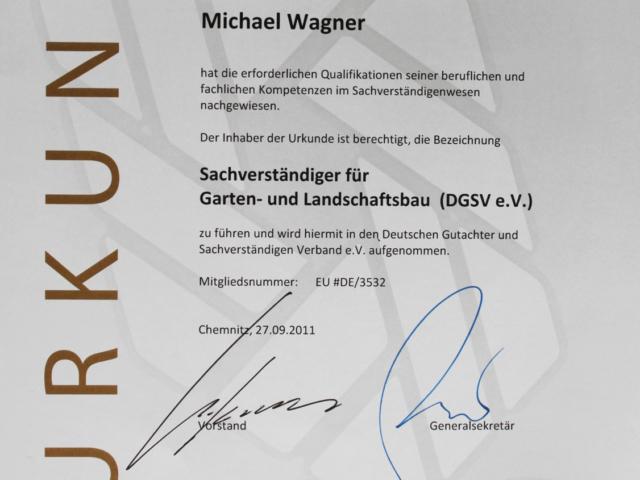 Sachverstaendiger - Garten und Landschaftsbau M.Wagner