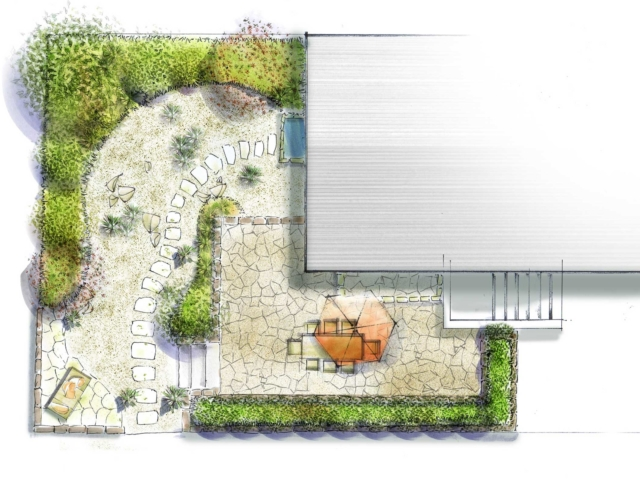 Gartenplanung Terrassen Treppen Trittsteine